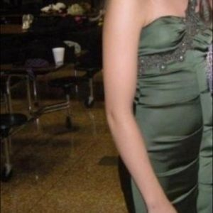 Cache Dresses - Olive above the knee prom or homecoming dress